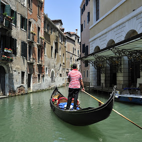 Venice by Bente Agerup - City,  Street & Park  Historic Districts ( canals, gondola, venice, historic )