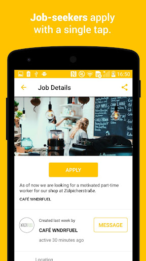 (APK) لوڈ، اتارنا Android/PC/Windows کے لئے مفت ڈاؤن لوڈ ایپس Jobfox - the place for side & part-time jobs screenshot