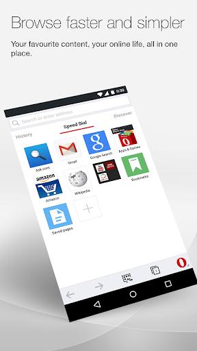 Android 用 Opera ブラウザ