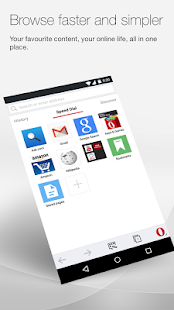 Opera browser for Android- screenshot thumbnail