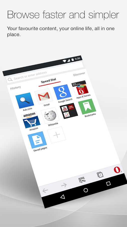 Opera browser for Android - screenshot
