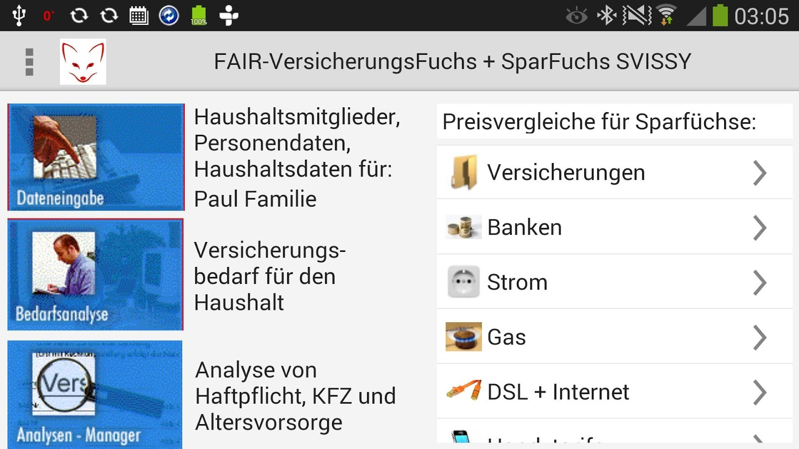 Fair-VersicherungsFuchs Free- screenshot