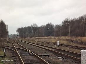 Photo: Widok w drugą stronę rozjazdy w zach. części stacji