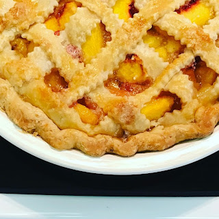 Peach Pie (made with a bag of frozen peaches).