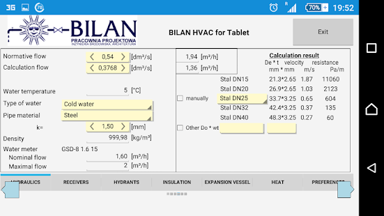 Bilan HVAC Simple for Tablet- screenshot thumbnail