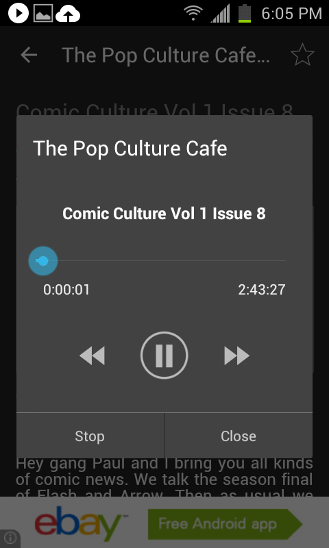 Pop Culture Cafe- screenshot