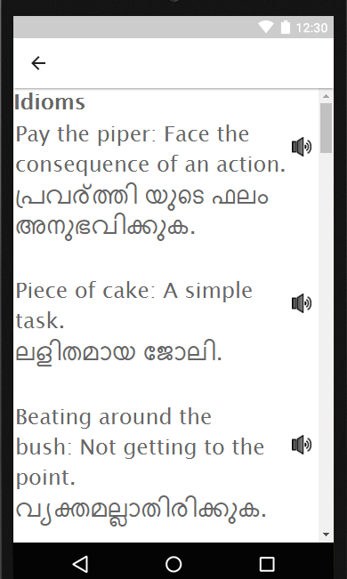 learn english in malayalam malayalam to english android apps on