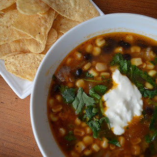 Mexican Black Bean & Corn Soup.