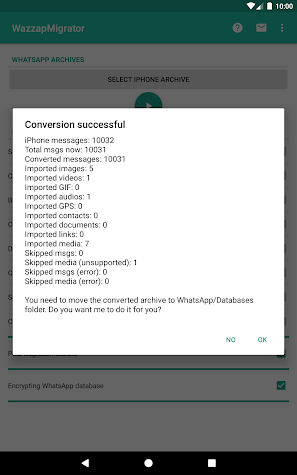 WazzapMigrator Screenshot