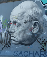 "Photo: East Side Gallery; Dmitrij Vrubel ""Danke, Andrej Sacharow"""