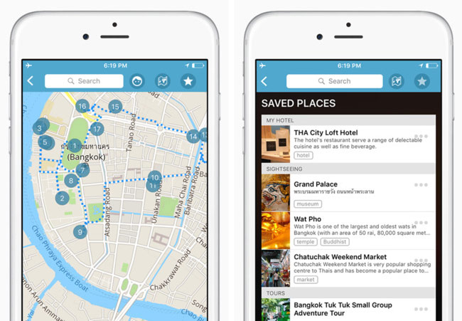 The Triposo app: content and photos from thousands of cities.