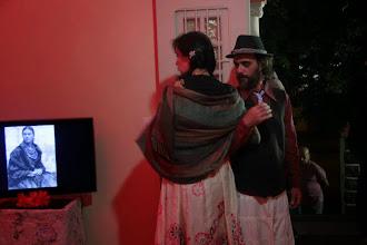 """Photo: Intervenção na abertura da exposição """"México, cores e catrinas"""". Imagem de Arriba Santos."""
