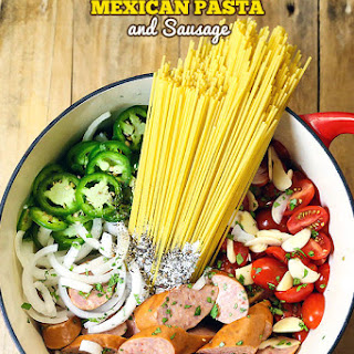 One Pot Mexican Pasta and Sausage.