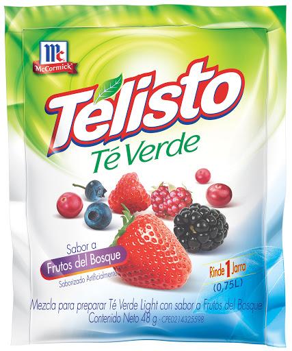 Bebida En Polvo Telisto Te Verde Frutos Del Bosque 48Gr