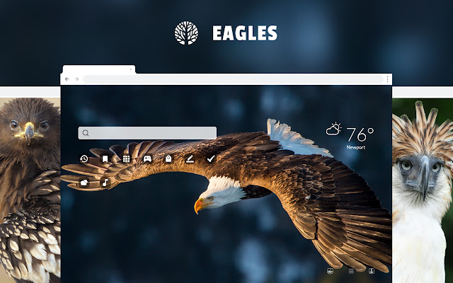 Eagles HD Wallpaper New Tab Theme