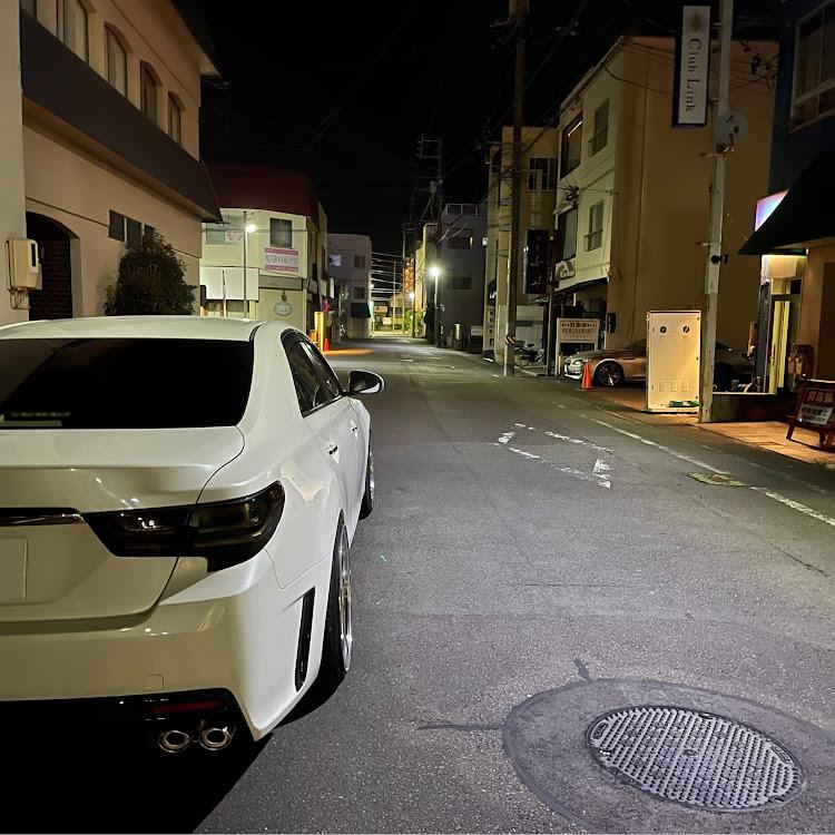マークX GRX130の梅雨明け,ドライブ,シャコタン,車高調整,愛車紹介に関するカスタム&メンテナンスの投稿画像1枚目