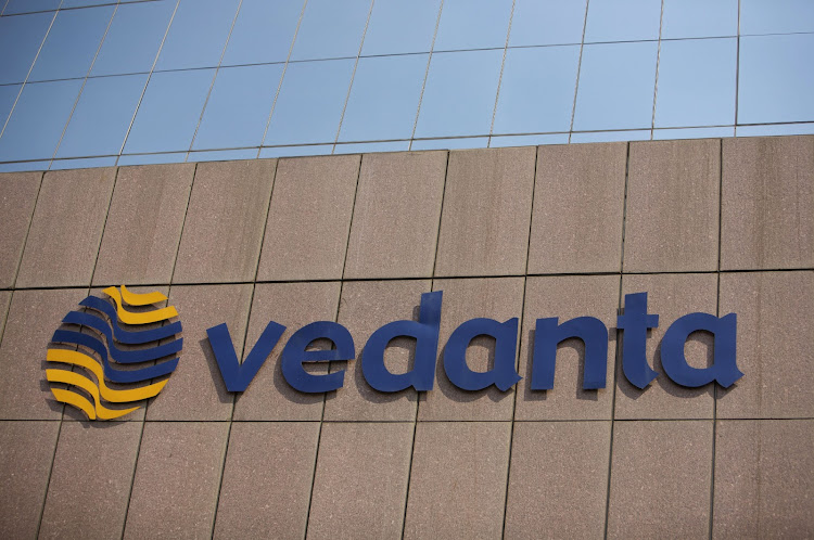 A Vedanta Resources logo outside its headquarters in Mumbai, India. Picture: BLOOMBERG / ADEEL HALIM