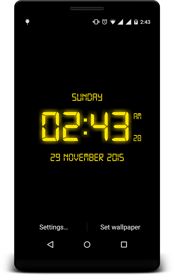 LED Digital Clock LiveWP- screenshot