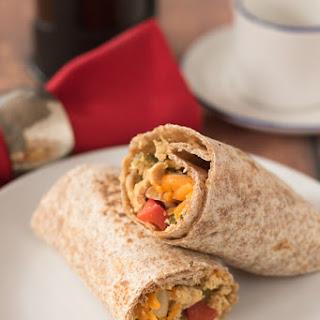 Quick Healthy Breakfast Burritos.