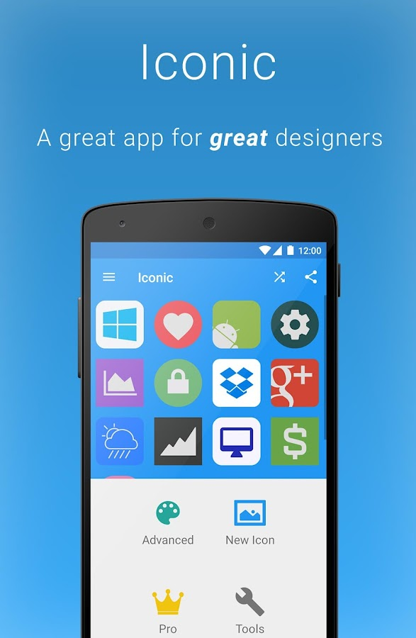 Iconic icon maker custom logo pack design tool android for Blueprint creator app