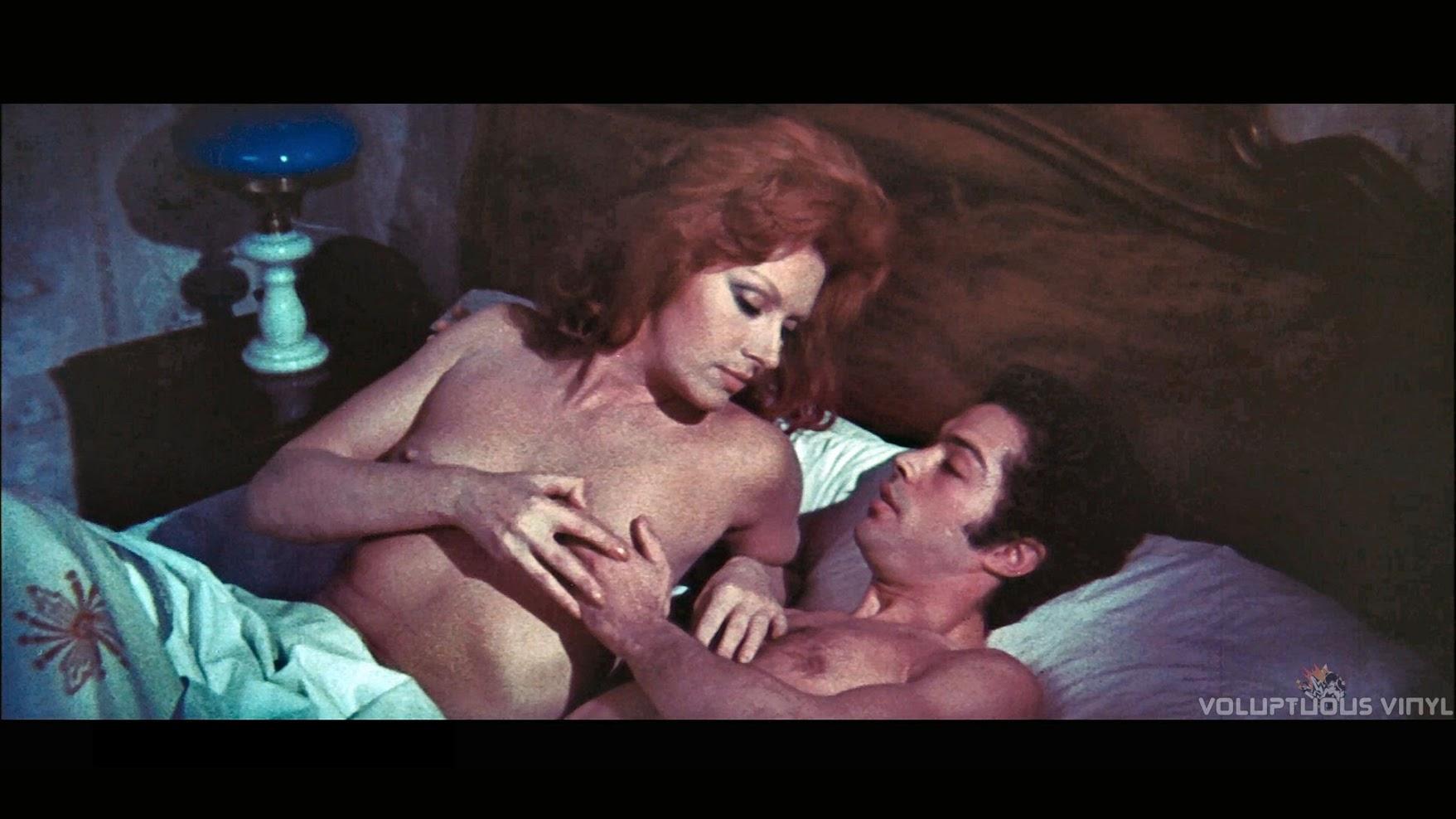 Helga Line nude in bed in The Vampires Night Orgy