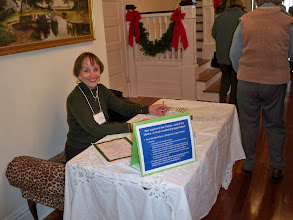 Photo: 2010 December 5 Cavin House (formerly King's Daughters Home) 32 Cemetery Road Home of Renee & Kenny Cavin  Friends Past President Lucy Milly takes tickets.