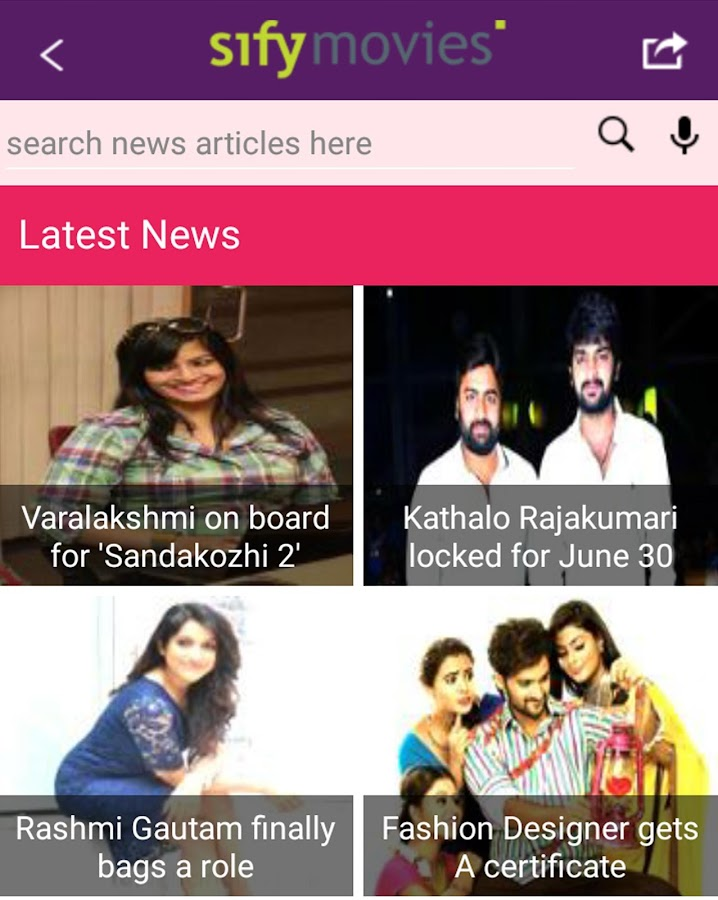 Sify Movies - Latest News and Reviews- screenshot