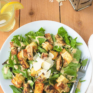 VEGETARIAN GRILLED CHICKEN CAESAR SALAD December 11, 2014 by Sarah 1 Comment
