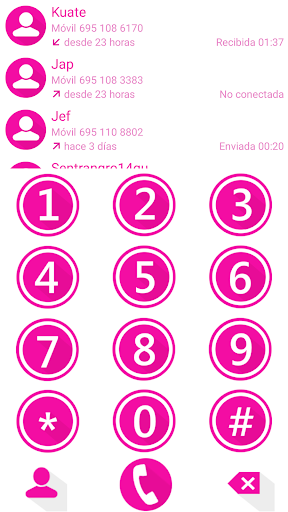 THEME MATERIAL M PINK EXDIALER