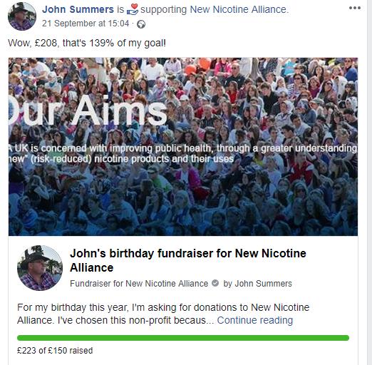 John's birthday fundraiser