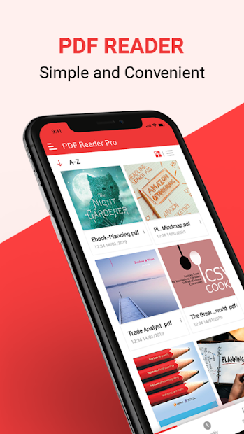 PDF Reader, PDF Viewer and Epub reader free Android App Screenshot