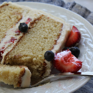 Vanilla Layer Cake with Fresh Berries.