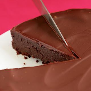 Flourless Chocolate Cake with Chocolate Glaze.