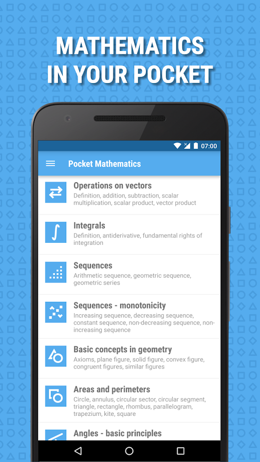 Pocket Mathematics- screenshot