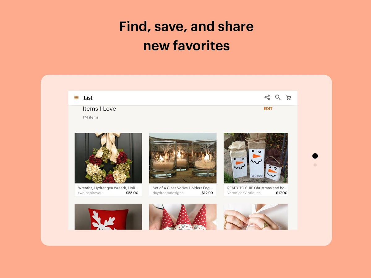 Etsy: Handmade & Vintage Goods- screenshot