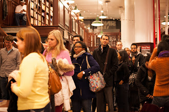 Photo: Wow! Look at that book-signing line in NYC (photo by Spyr Media)