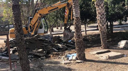 Las obras de mejora del parque cuentan con un presupuesto de 400.000 euros.
