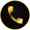 Gold Full Screen Caller Id icon