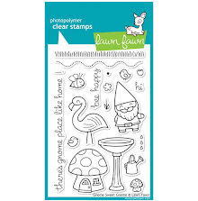 Lawn Fawn Clear Stamps 4X6 - Gnome Sweet Gnome