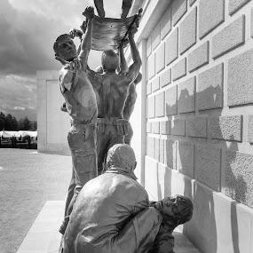At the wall of remembrance 04 by Stefen Dicks - Buildings & Architecture Statues & Monuments
