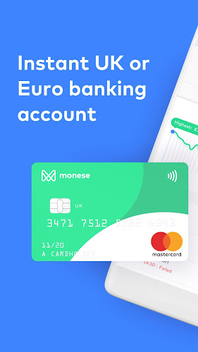 Monese - Banking without boundaries Android App Screenshot