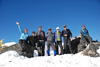Photo: Kharta Valley, the group on the Lalung La ...