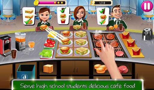 High School Cafu00e9 Girl: Burger Serving Cooking Game 1.1 screenshots 13