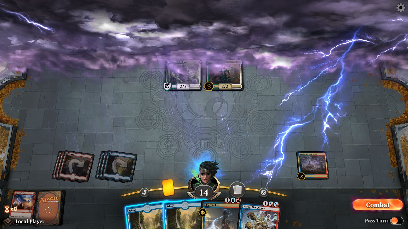 A game of Magic: the Gathering Arena