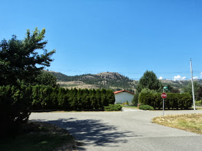 Photo: Went for a walk around their development - Raleigh - with Dawson and Brendan. The mountains surround them.