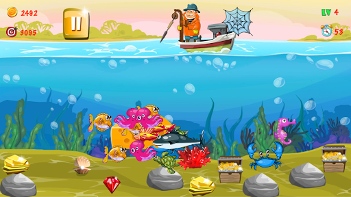 Gold miner, Fishing, gold rush apkmr screenshots 4