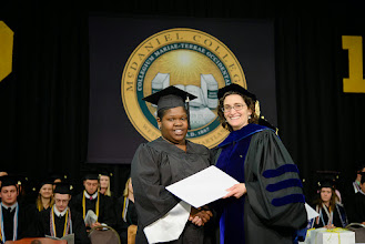 Photo: Cindy Reid, Political Science and International Studies and Social Work major from Brooklyn, N.Y.,  The Dr. Mary Ellen Elwell Distinguished Social Work Award and The Elizabeth Lintz Burkhardt Memorial Service Award
