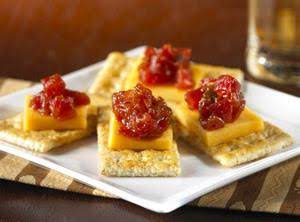 Cheddar And Tomato-jam Canapés Recipe