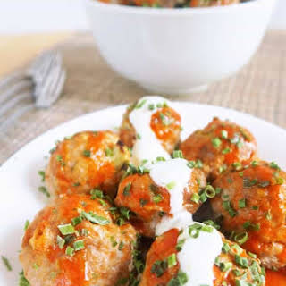 Buffalo Turkey Meatballs (Low Carb, Gluten-free).