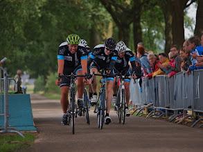 Photo: Finish van het Ventielen-team in de derde manche.